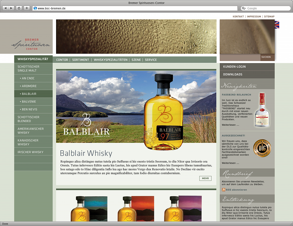 bsc | website mit händlershop