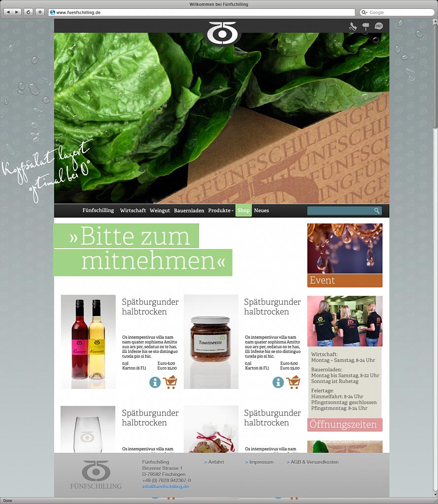 fünfschilling | website & shop