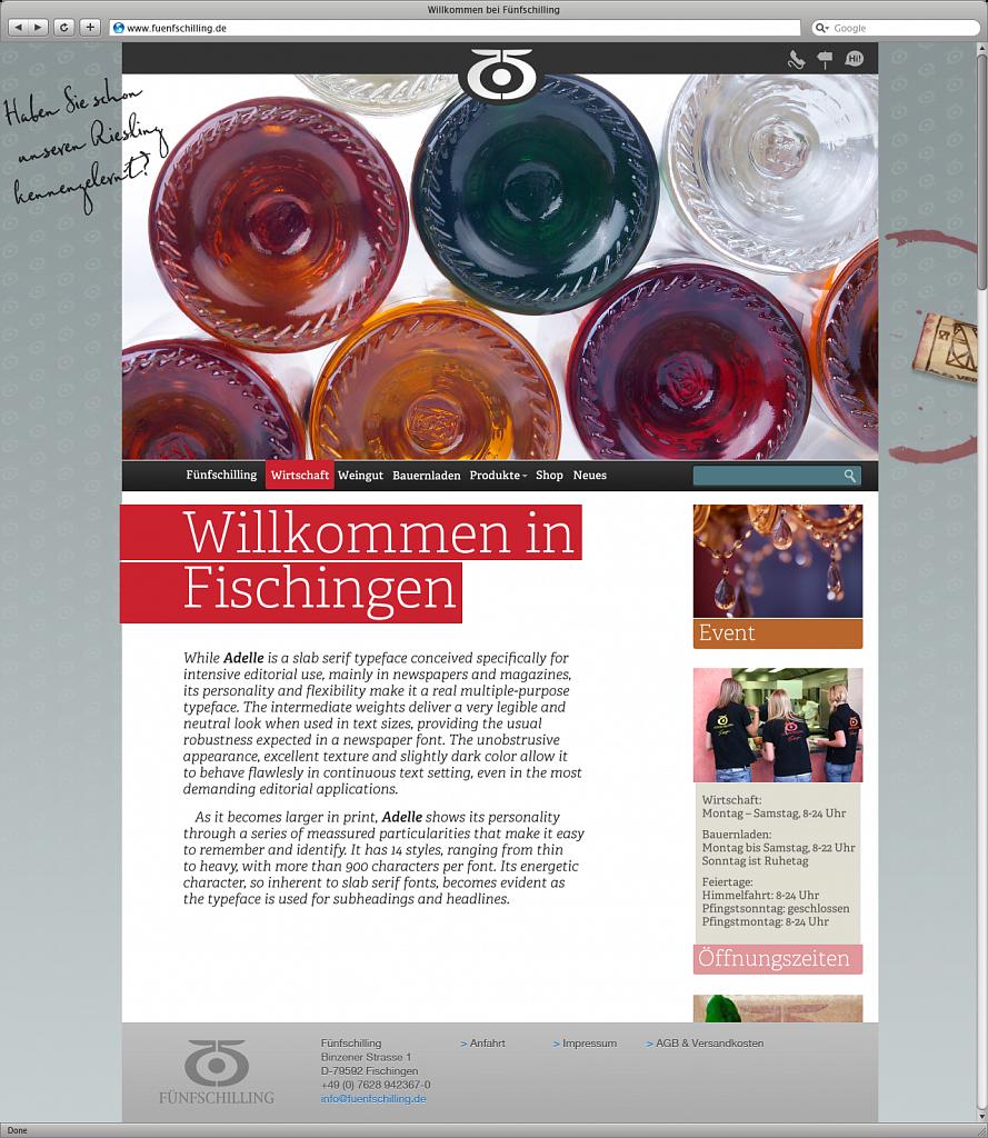 fünfschilling   website & shop